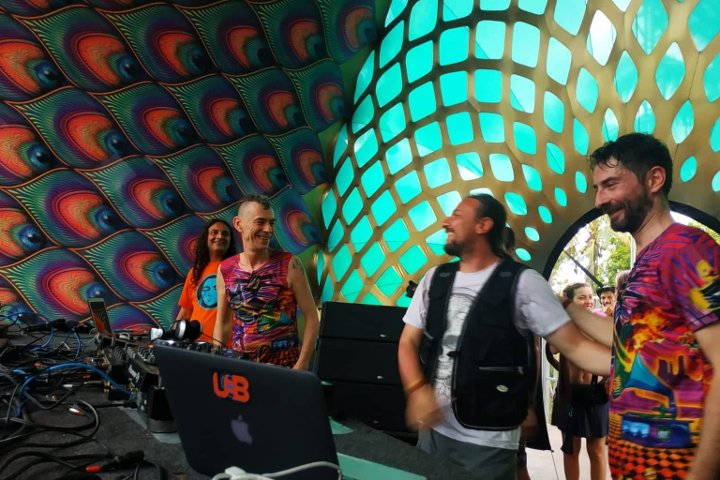 Moksha junto a Mad Tribe en Universo Paralello, Brasil 2020