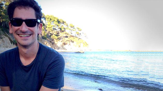 Pfirter en la playa
