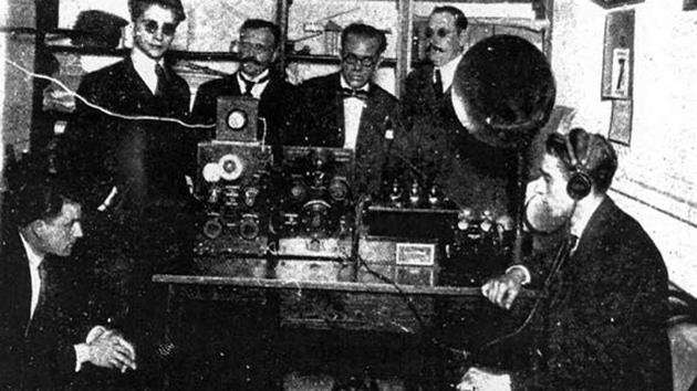 Primer transmisión radiofónica argentina, 1920